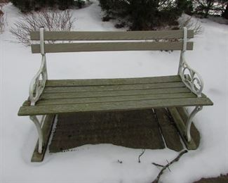 Spring is coming but Bench's might not be for sale, currently frozen to ground!