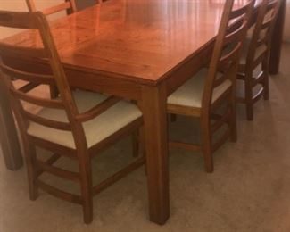 """Oak wood dining table. 7""""X3'6"""" can be made smaller"""