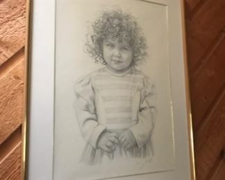 Pencil drawings from Colombian artist Omar Gordillo depicting a young girl.