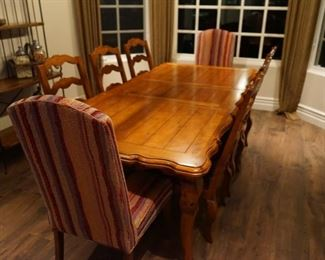 Century Table and Chairs $1200 - with the exception of the end caps! 6 chairs!