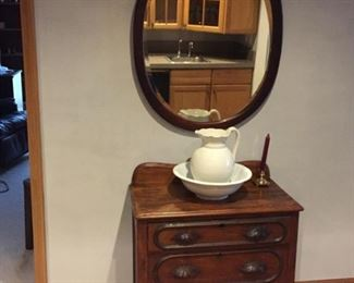 Mirror and Wash Stand