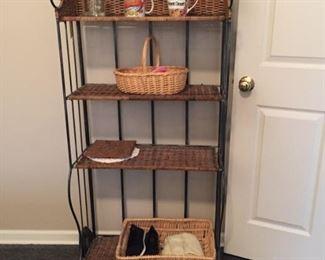 Wicker and Metal Shelf