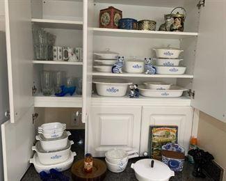 Corningware Blue Cornflower assortment