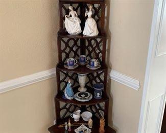Vintage tiered display shelf