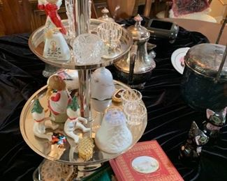 Collectibles & silverplate on copper coffee service