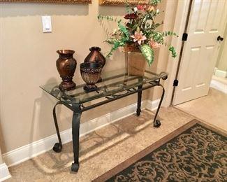 Metal/Glass Foyer Table - Decor
