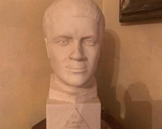 Bust of Mr. Turner in silent auction.