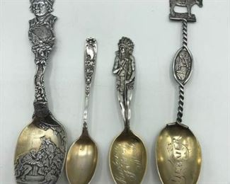 Four Collector Spoons