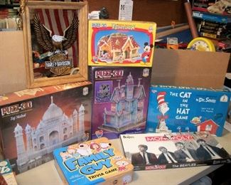 Beatles ...Family Guy...New in the boxes 3d Puzzles.....Cat in the Hat
