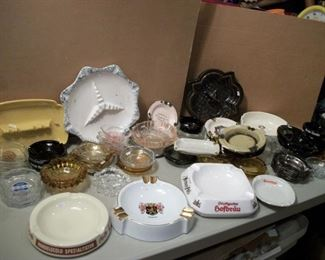 Vintage collectible ashtrays .....We have many others