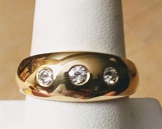 Mens 0.30 ct tw Diamond Ring. In 14k sz 10