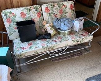 Classic vintage glider! Spring & summer will come...and how fun would this charmer be on your patio or deck?
