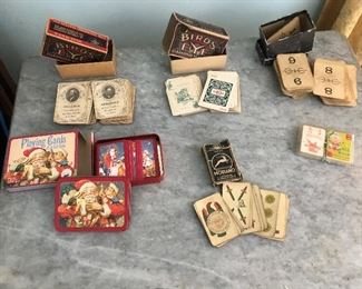 Playing cards from 1800s