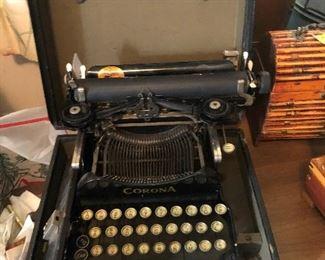 old typewriter in case