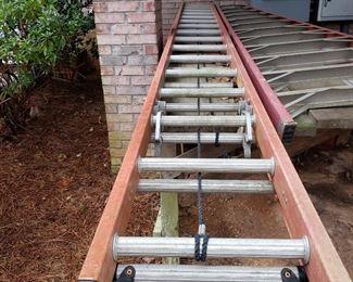 32' extension ladder.  12' A-frame ladder
