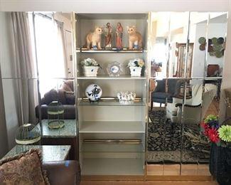 Mirrored Cabinets / Shelf