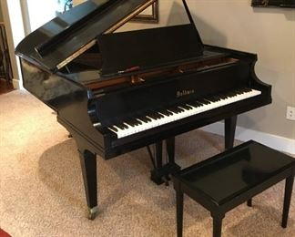 """BABY GRAND PIANO.  Beautiful eight foot Baldwin baby grand piano and bench.   (W  65"""", H 37"""", D 56"""") About 65 years old, seasoned and played often.  Has a softer, gentler action which makes it easy to play and gives it a beautifully rich sound.  Was tuned about six months ago. Recently appraised at $5,000.  Sell for $3,300. Comes with tuning fork.  CASH ONLY."""