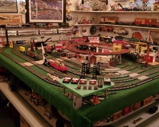 "Two Complete 8x8 train boards, upper board is a mix, lower board is a ""Christmas"" layout with Dept. 56 buildings and beautiful Williams Alaska passenger set as well as Dept. 56 Lionel set."