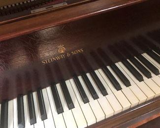 steinway model M baby grand-5.7 walnut- antique piano -check back on this - as we will sell the baby grand before the sale  if we can -it will need to be professionally moved   you can message me or text me directly on this item only- everything else will sell thur when we open thank you