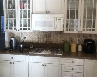 Decor White Kitchen Cabinets and Granite Counters including Island $2500