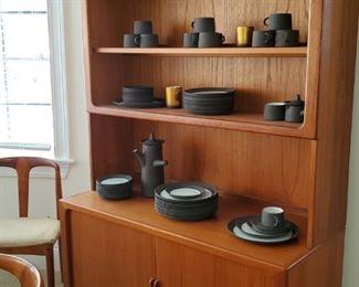 Dansk Danish Modern Dish Set , Danish Modern Cabinet, matching table and chairs