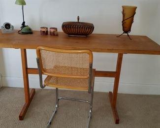 Maple butcher block table, bar height