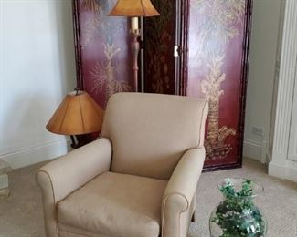 Lee upholstered arm chair
