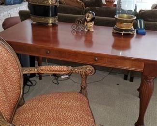 Hancock & Moore Leopard Desk Chair, Lane Desk
