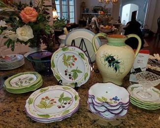 Boutique plates and serving pieces
