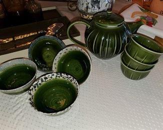 Tea and rice set,
