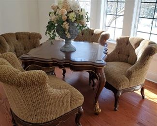 Marge Carson game table w/ 4 chairs