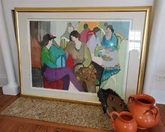 """Tarkay, """"Afternoon Chat"""", Large signed and numbered  Sieragraph"""