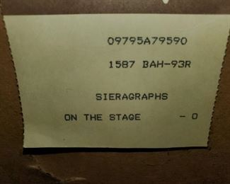 """Tarkay, """"On The Stage"""" , Sieragraphs, Signed & Numbered"""