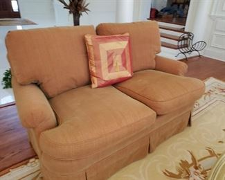 Custom upholstered loveseat, Matching Sofa