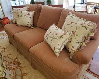 Custom Upholstered Sofa, Matching Love seat