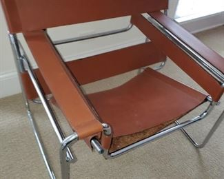 Knoll Wassily sling Chairs, matching pair, one need s new sling