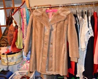 retro faux fur coat