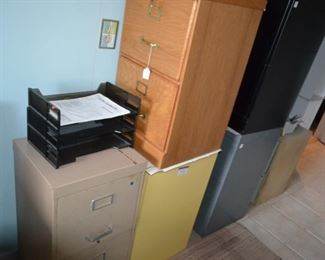 several filing cabinets