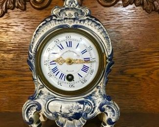 late 1800's Bigelow Kennard French porcelain clock