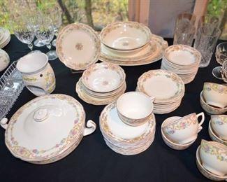 USA rose pattern china