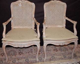 Set of 6 Dining Chairs, 2 Arms & 4 sides