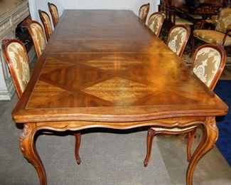 Table and Set of 10 Chairs by J. Widdicomb