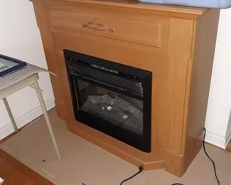 Electric heating fire place