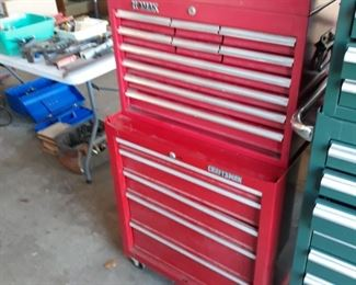 Second tool chest on wheels, with keys