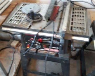 "10"" inch table saw on stand"