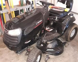 Craftsman DYS 4500 lawn tractor with new battery. Yes, it runs.