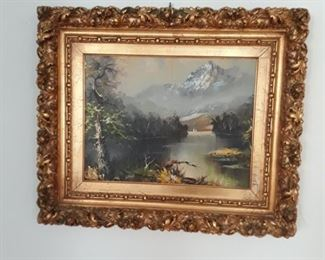 Vintage oil on canvas with fab frame