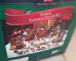 Xmas , Victorian Village 34 piece set , ebay