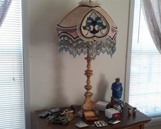 Stained glass in lamp shade