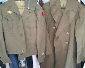 WW11 wool uniform  items